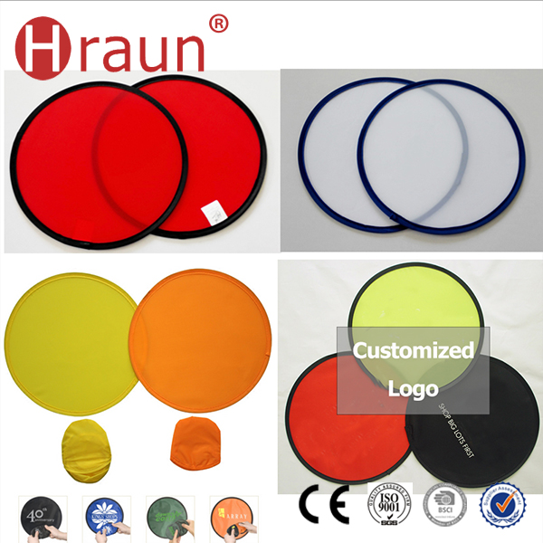 Custom Oem Round Hand Folding Fan Foldable Dog Frisbee