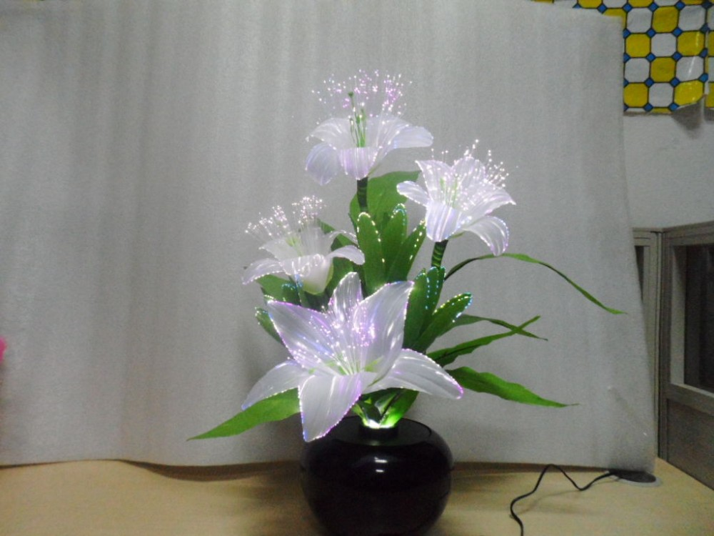 Led Fiber Optic Color Change Lily Flower Lamp - Buy Lamp ...