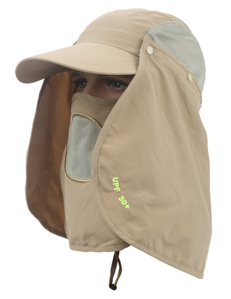 1994bc86e5da0 Get Quotations · Sumolux UV 50+ Fishing Removable Flap Hat Neck Protection  Breathable Cap with Removable Sun Shield