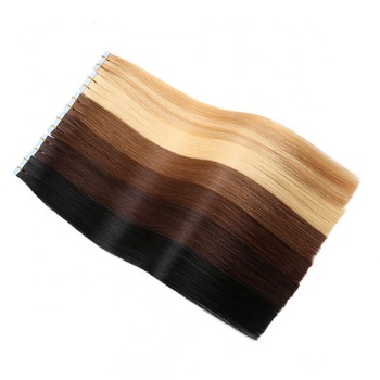 20 Inch Seamless Skin Weft Tape on Hair Extensions 20 Pieces 50 Grams Straight Brazilian Real Human Hair