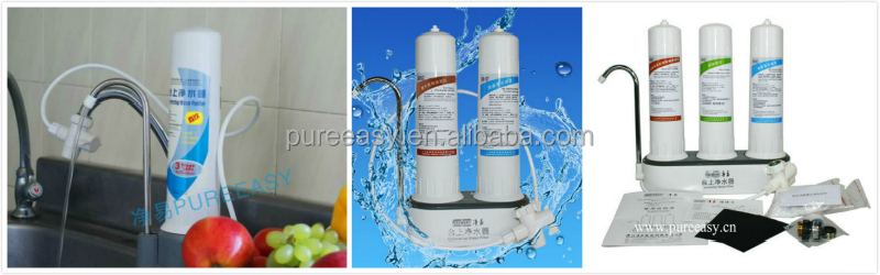 household countertop water filter for removing chlorine, bacteria, hardness, heavy ions, bad odor....