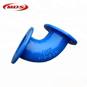 ISO2531 Ductile Iron Flanged Bend 45 Degree, Ductile Iron Flanged Elbow For Water Pipeline