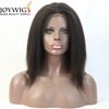 Brazilian Human Hair Lace Front Wig with stretch lace back kinky straight lace wigs