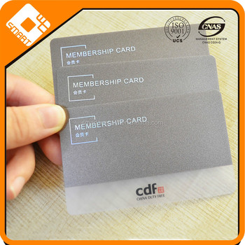 Laser Foil Clear Frosted Plastic Transpa Pvc Business Cards