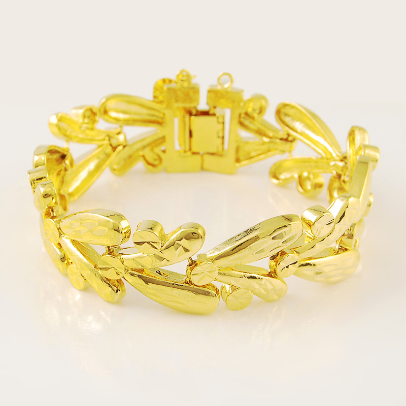 50e3877ff Get Quotations · JH050 2015 Shenzhen Hot New Product 24K Gold Plated Charm  Bracelets Leaf Design Fashion Jewelry Casual
