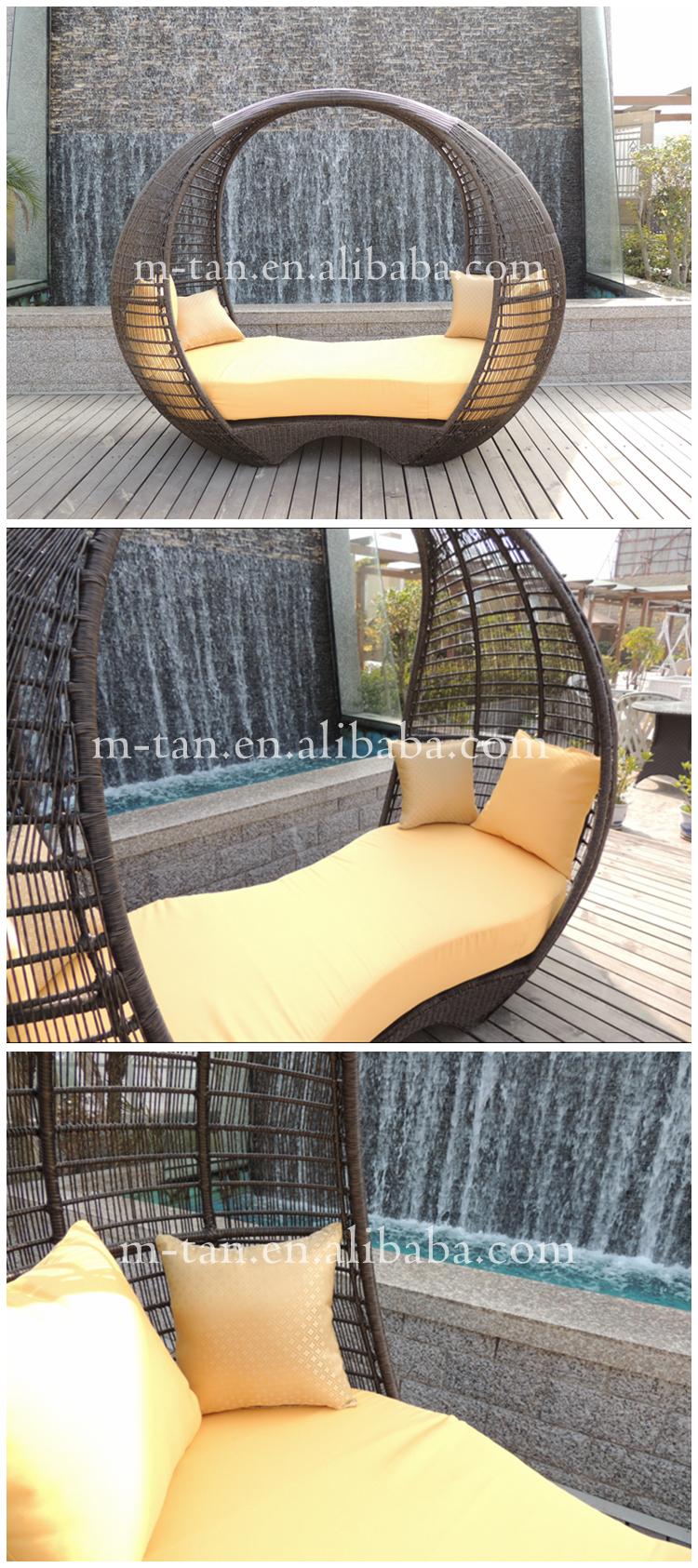China Großhandel Moderne Große Alibaba Wicker Rattan Outdoor Lounge Möbel  Kokon