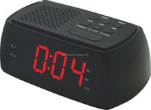 Factory Dirtectly AUX Jack Bluetooth Dual Wake Digital FM Alarm Clock with Radio