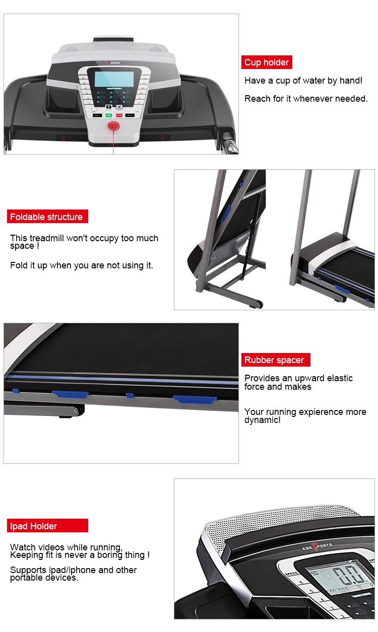 8809D 2019 new model moveable 1100W  home used fitness equipment running machine with big running belt1