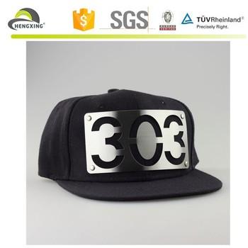 Rare Limited Leather Underbrim 303 Metal Plate Snapback Cap Hat ...