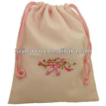 Ballet Handmade Drawstring Embroidery Blanks Bags