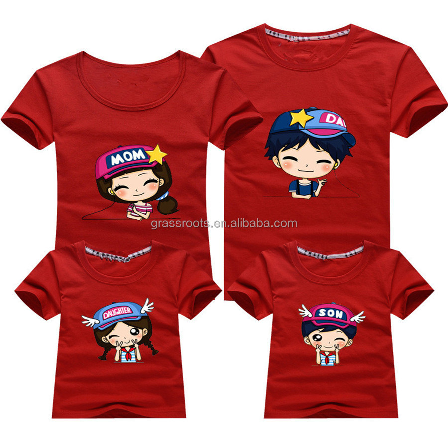 2015 wholesale family round collar printed t shirt designs for T shirt design wholesale