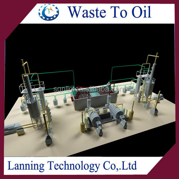 100% environmental safety running well waste tire pyrolysis machine