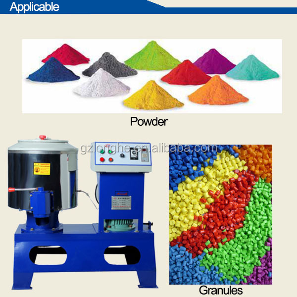 plastic granule color mixer industrial color powder blender high speed regenerate propylene drying mixing machine in France