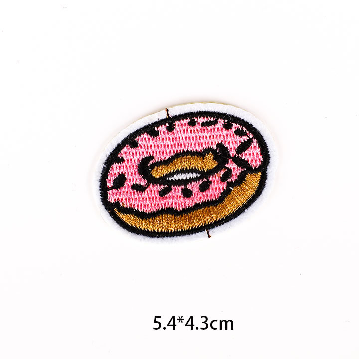 GUGUTREE iron on embroidery fruits patch,embroidered food badges,DIY clothing accessories appliques