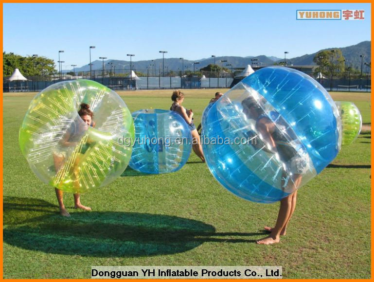 1.5m PVC inflatable ball suit for soccer sports
