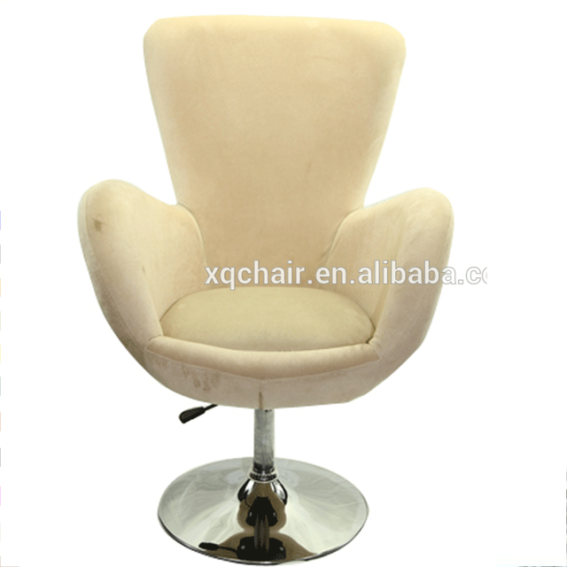 XQ-528B Comfortable Swivel Fabric Seat High Back Armrest Living Room Furniture Egg Chairs For Heavy People