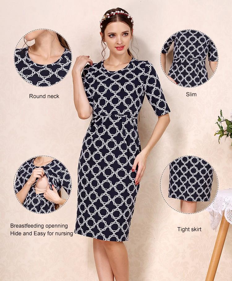 344bea4352b Plus size maternity dresses for banquet events nursing evening dress  breastfeeding clothing
