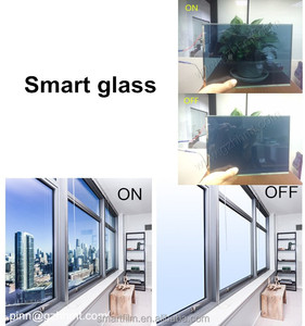 Privacy electric building glass tempered door laminate sheet smart glass transformer dimmer 10mm glass panel electric windows