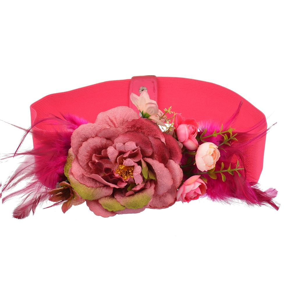b8168ae8 Venta al por mayor cinturón ancho con flor-Compre online los mejores ...
