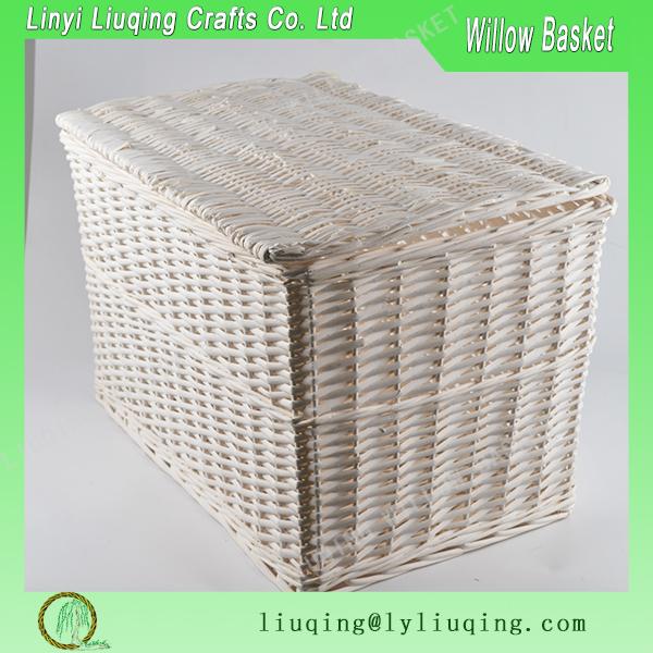 Buy Melbury Rectangular Wicker Storage Basket From The: Rectangular White Large Wicker Laundry Basket/ Bulk Wicker