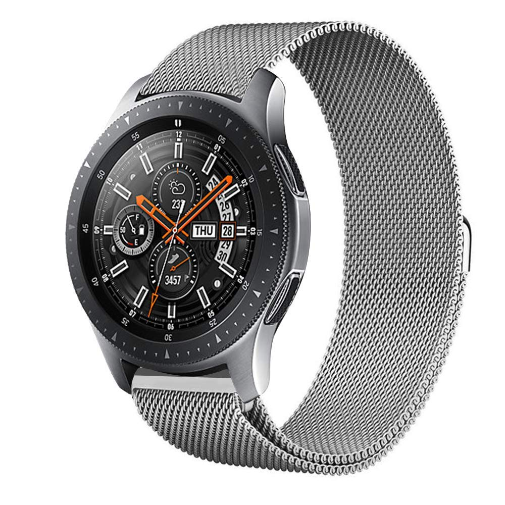 Kartice Compatible Samsung Galaxy Watch (46mm) Bands,22mm Galaxy Watch Band Milanese Loop Stainless Steel Strap Wrist Replacement Band Samsung Galaxy Watch SM-800 Smart Watch (46mm) (Silver)