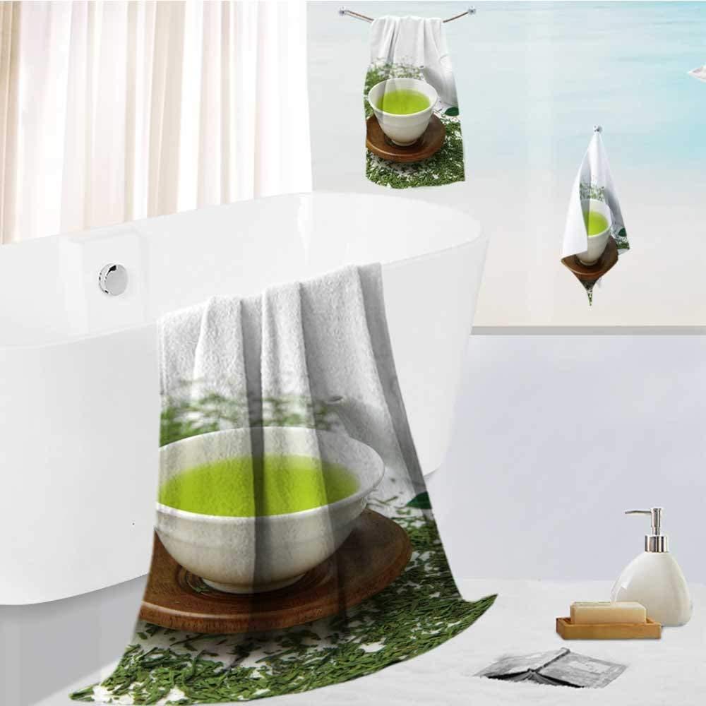 Analisahome 3 Piece Bath Body Plush Shower Towel Wrap Spa Set japanese green tea Bath Body Sponge