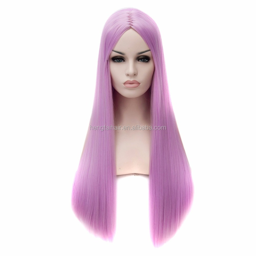 Cosplay Women Light Purple Long Straight Synthetic Wigs