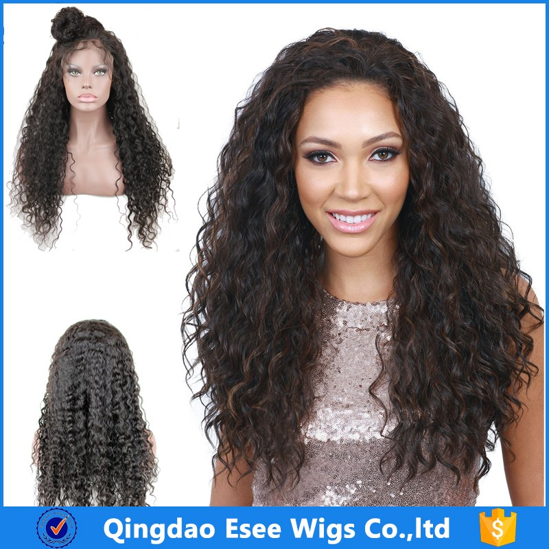 Brazilian Virgin Human Hair Afro Curly Lace Front Wigs for African Black Women  best selling products 78692627fe