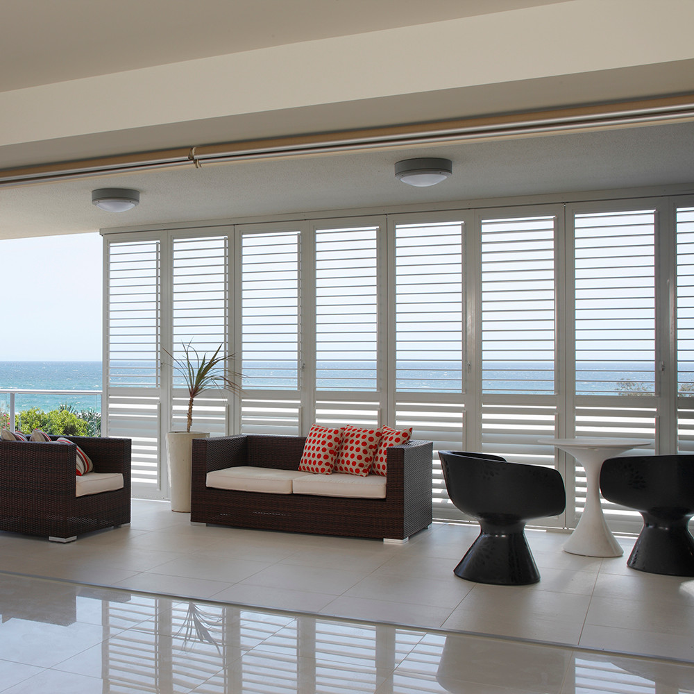 Export to sydney custom wood white horizontal folding exterior export to sydney custom wood white horizontal folding exterior bifold plantation shutters for sliding glass doors eventelaan Image collections