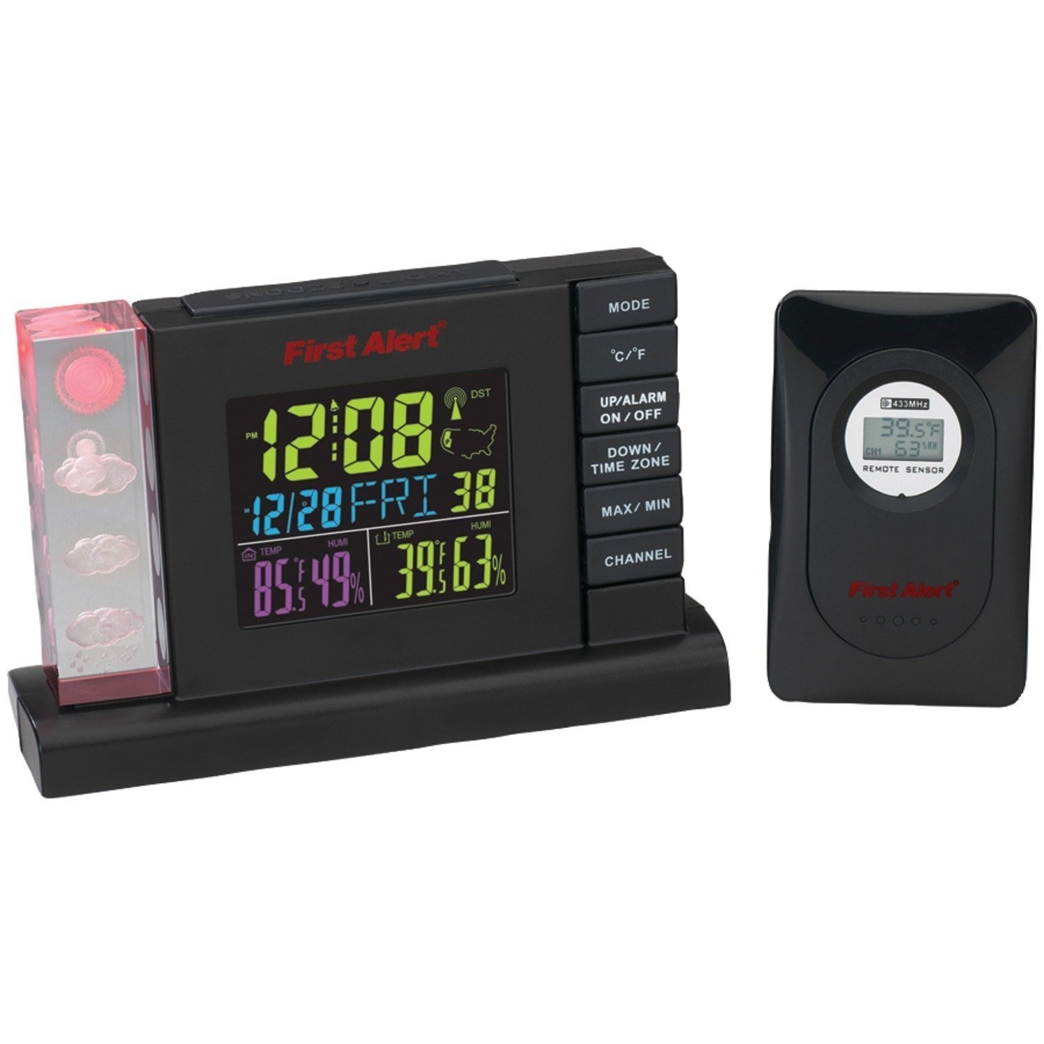 "First Alert Radio-Controlled Weather Station Alarm Clock With Wireless Sensor ""Product Type: Weather Stations & Thermometers/Weather Stations"""