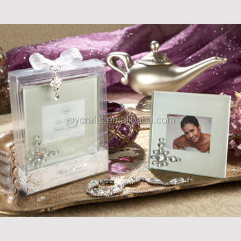 Let Your Heart Decide Glass Wedding Photo Frame