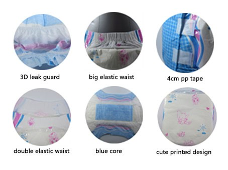 adult products baby printed thick adult diapers for sale