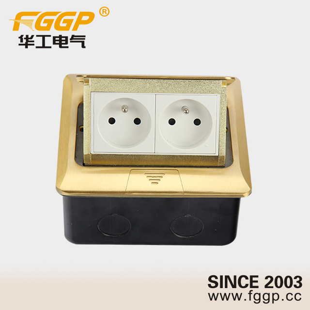 Hot Selling Waterproof IP40 Floor Flush Mounted Different Types Of Electric  Outlets With LAN