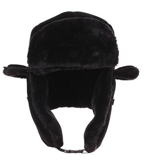 cdac01a43f565 Get Quotations · adult super thick warm trooper caps snow ski pilot Russian  bomber winter earflap black aviator trapper