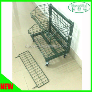Free standing fruit vegetable wire basket rack