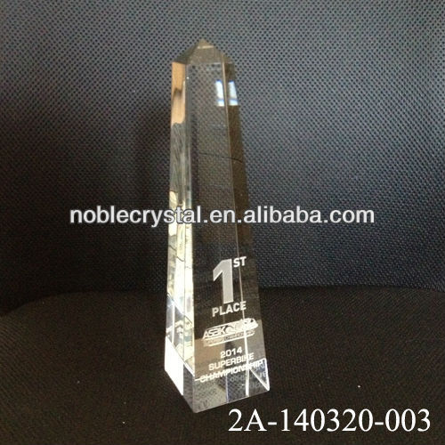 Noble New Design 1st Place 2014 Crystal SuperBike Championship Trophy And Award