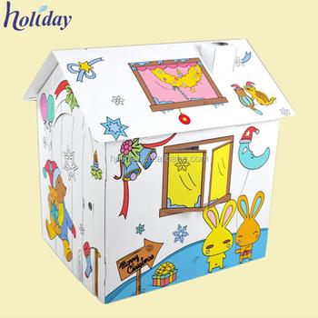 Cardboard Playhouse Diy Paper Diy Cardboard House For Kids Buy Cardboard Playhouse Diy Diy Cardboard House Cardboard House For Kids Product On