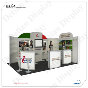 Detian offer portable exhibition stand trade show booth 3*6 size aluminum fair