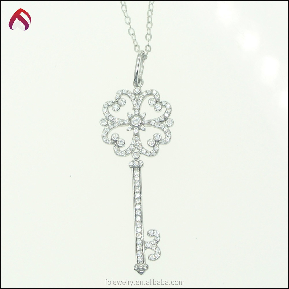 925 silver key pendant necklace meaning for jewelry design