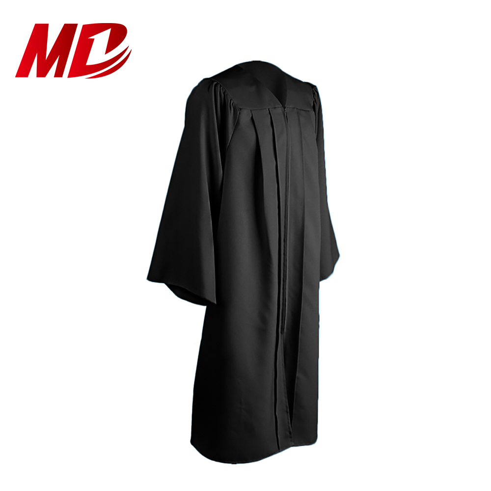 Finest quality Black matte graduation outfits ,caps and gowns, Academic regalia