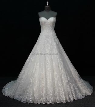2017 New Style Off Shoulder Trail European White Wedding Dress Bridal Gown