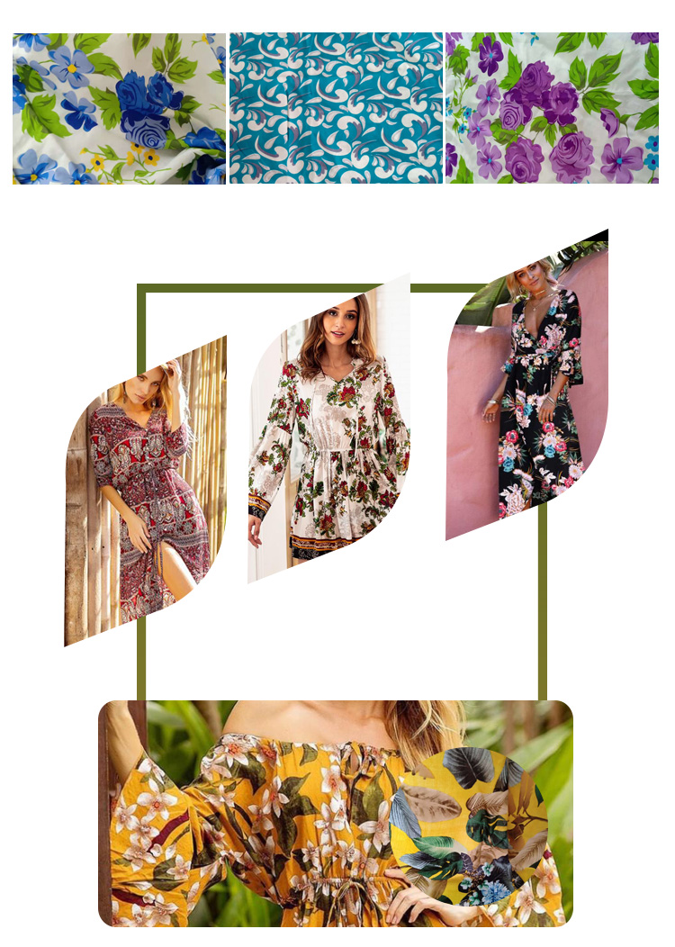 Best quality cheap price new fashion a grade floral printed 30S 32S rayon fabric wholesale with good quality in keqiao market