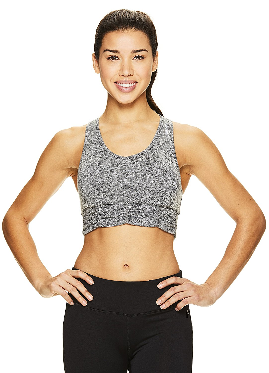 1a3aa13071 Get Quotations · HEAD Women s Perfect Match Sports Bra - Wireless Racerback Fitness  Bra w  Removable Cups