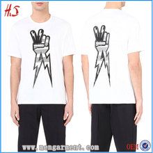 Custom High Quality Men Printed Lightning Bolt Motif 100% Cotton T-Shirt
