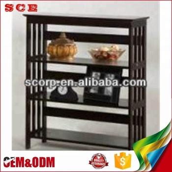 Hot Sale Ladder Bookshelf Furniture 4 Tier Design Wooden Book Rack