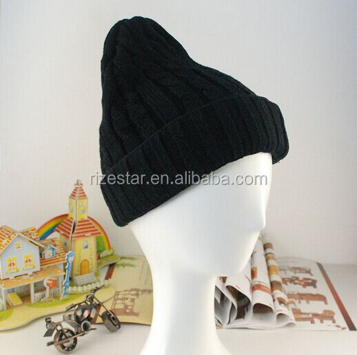 2015 Cute Acrylic Beanie With Your Pattern
