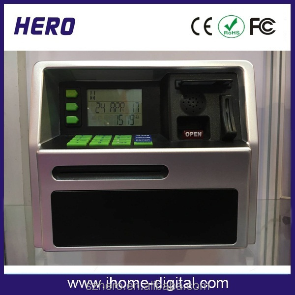 Store coins and paper money banks with high interest saving account plastic piggy bank