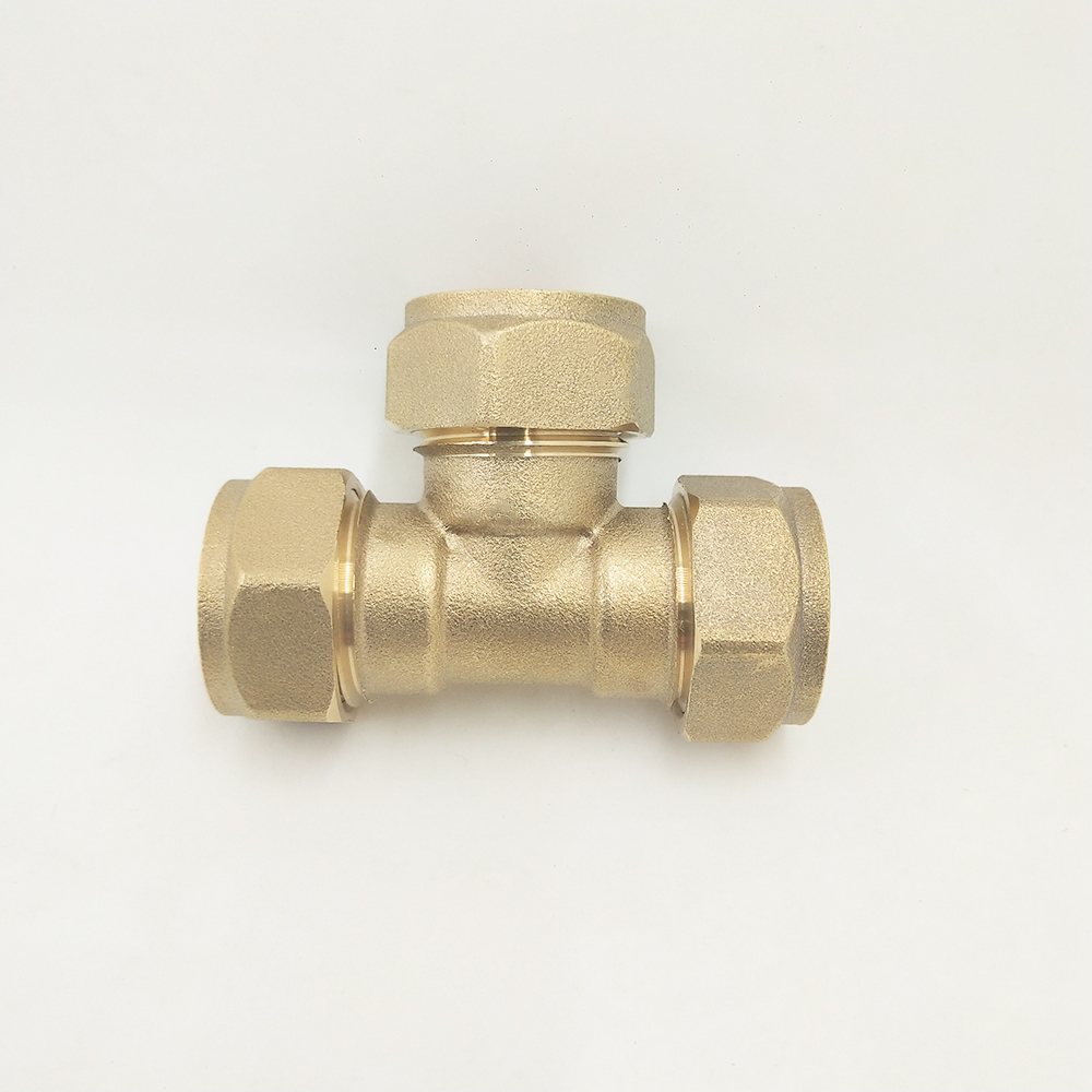 15mm Equal Tee Brass Compression <strong>Fittings</strong> For Plumbing