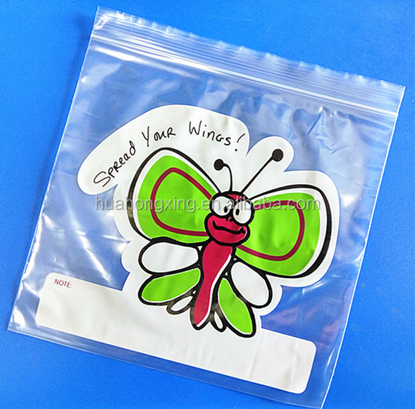 custom coloured printed LDPE plastic double ziplock bags with design
