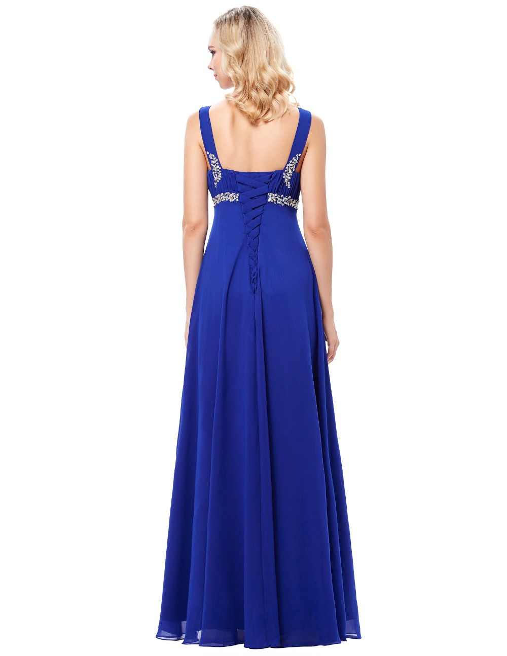 Grace Karin 2017 New Formal Blue Long Evening Ball Gown Party Prom Bridesmaid Dress Stock Size 4-16 GK000129-1